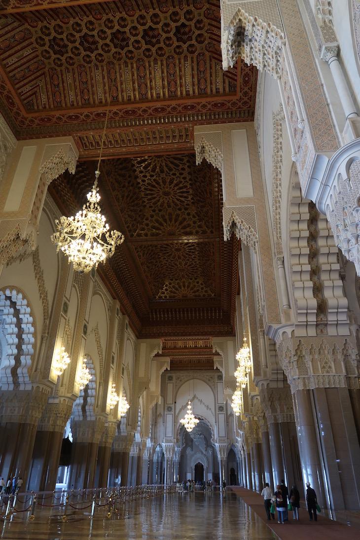 Interior da Mesquita Hassan II, Casablanca. Marrocos © Viaje ComigoInterior da Mesquita Hassan II, Casablanca. Marrocos © Viaje Comigo