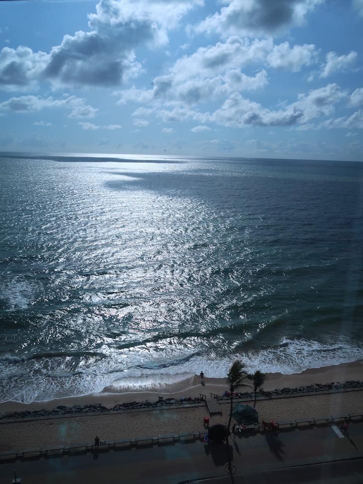 Vista do elevador do hotel Atlante Plaza - Recife - Brasil © Viaje Comigo