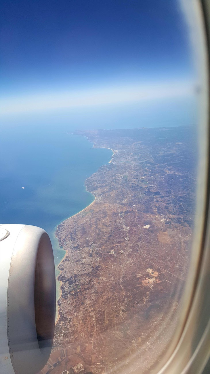 Algarve visto do céu - Royal Air Maroc © Viaje Comigo