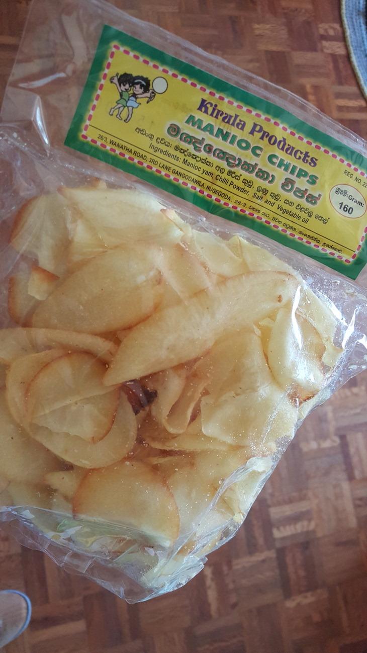 Chips de Mandioca no Sri Lanka © Viaje Comigo