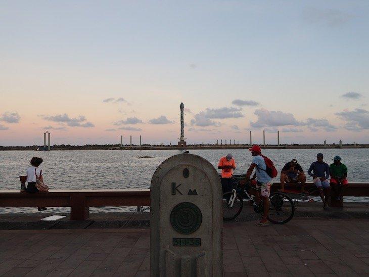 Km Zero - Recife - Pernambuco - Brasil © Viaje Comigo