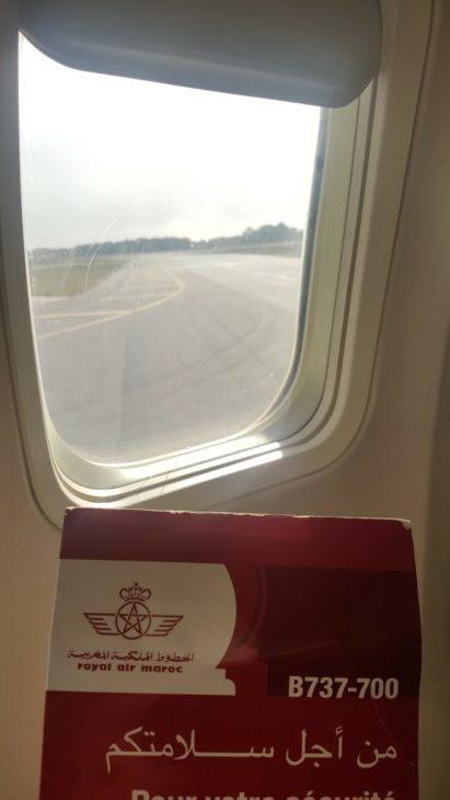 No avião da Royal Air Maroc © Viaje Comigo