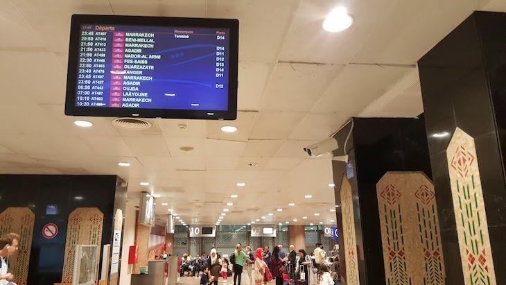Sala de voos nacionais - Aeroporto Casablanca © Viaje Comigo
