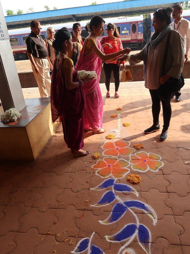 Receção em Sindhudurg -Deccan Odyssey - Índia © Viaje Comigo