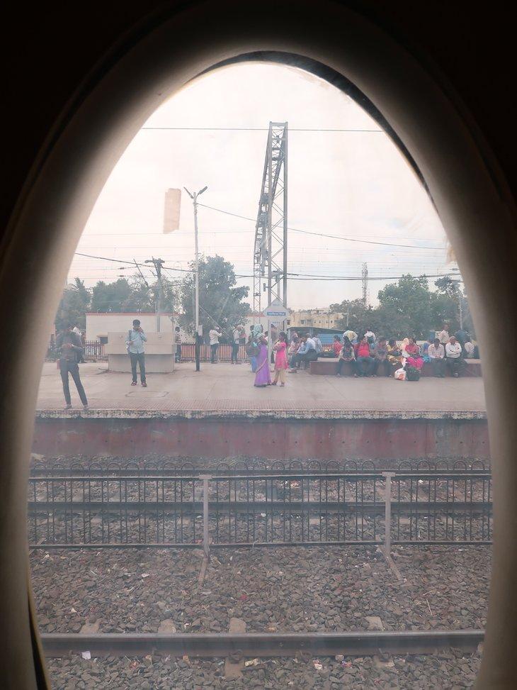 Vista na janela - comboio Deccan Odyssey - Índia © Viaje Comigo