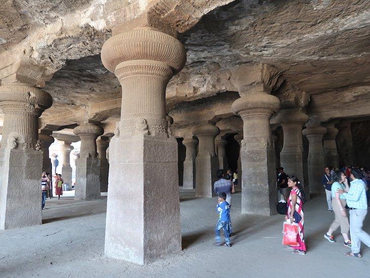 Elephanta Caves - Grutas de Elefanta - Bombaim - India © Viaje Comigo