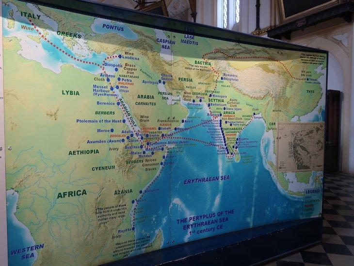 Mapa no museu de Kolhapur - India © Viaje Comigo