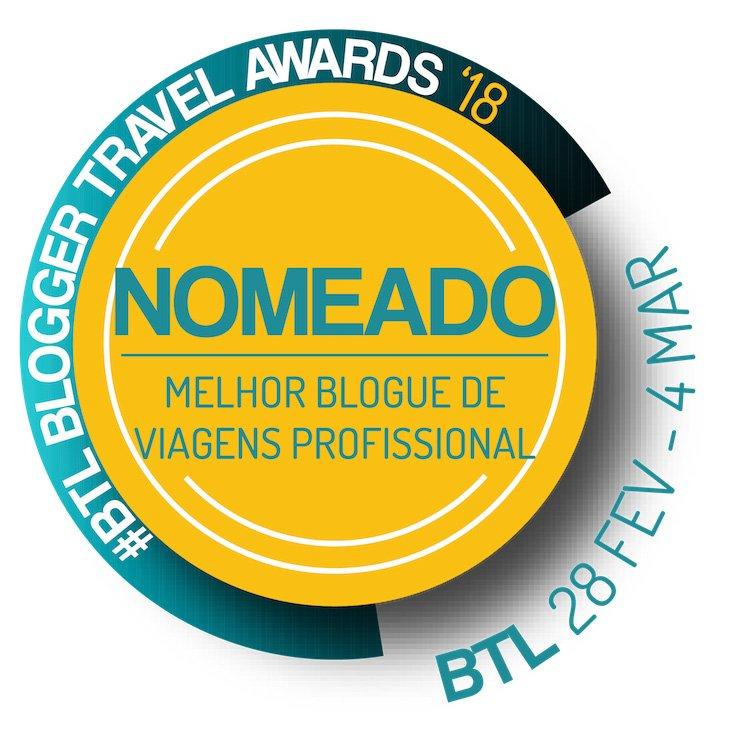 Nomeado Melhor Blogue de Viagens Profissional - BTL 2018