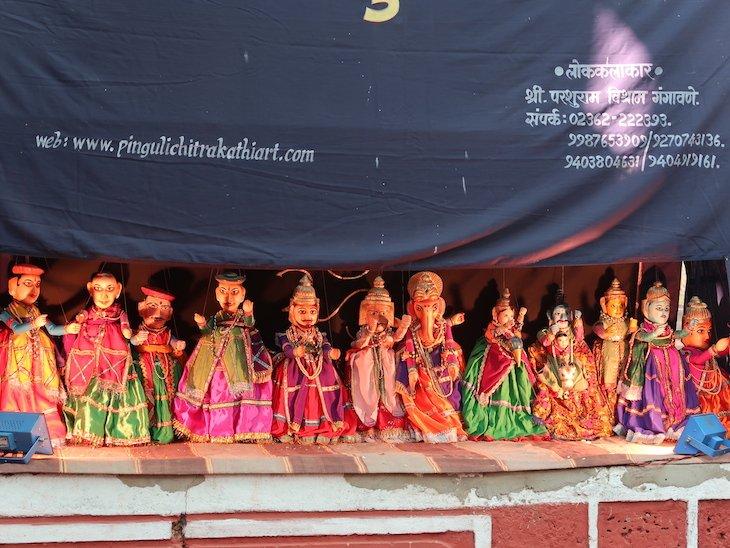 Marionetas em Pinguli - Sindhudurg - India © Viaje Comigo