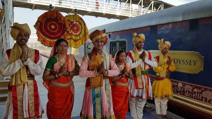 Receção do comboio Deccan Odyssey - Índia © Viaje Comigo