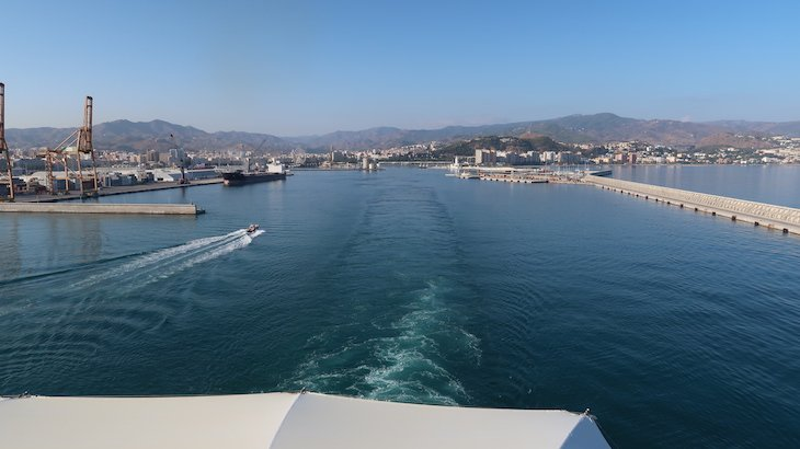 Saída de Málaga no MSC Magnifica © Viaje Comigo