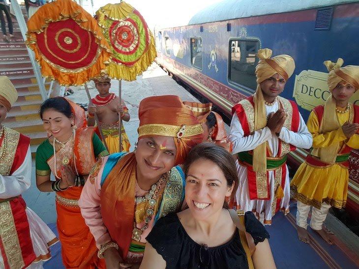 Susana Ribeiro no Deccan Odyssey, na Índia © Viaje Comigo