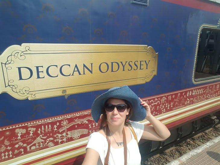 Susana no Deccan Odyssey - India © Viaje Comigo