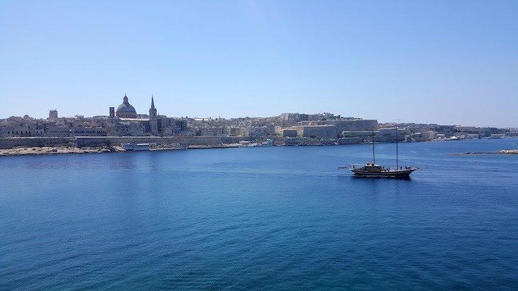 Vista de Valetta a partir de Sliema - - Malta © Viaje Comigo