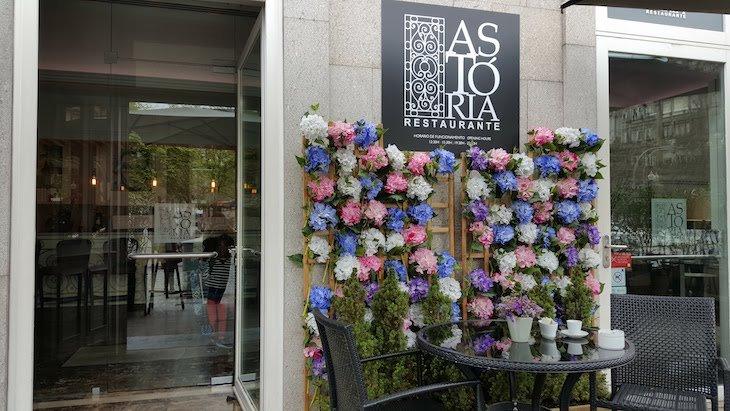 Entrada no restaurante Astória - Porto © Viaje Comigo