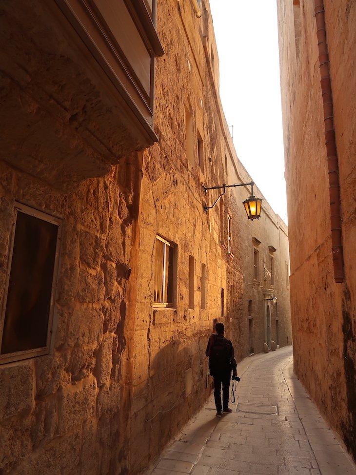 Pôr do sol em Mdina - Malta © Viaje Comigo