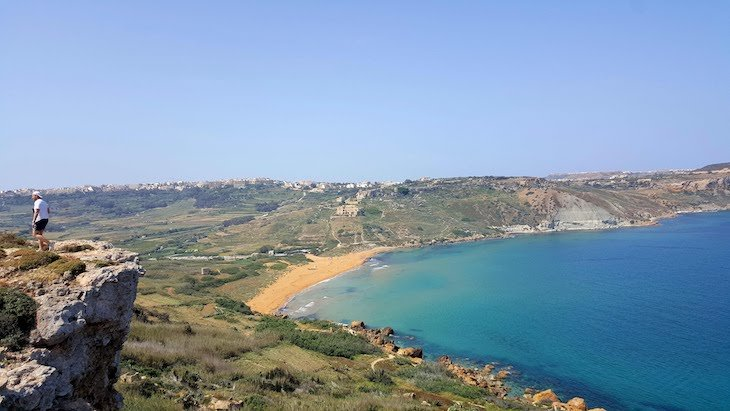 Vista para Ramla Bay - Gozo - Malta © Viaje Comigo