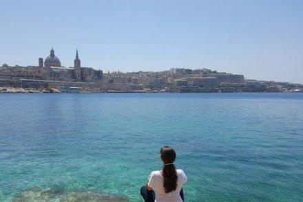 Em Sliema, a olhar Valetta - Malta © Viaje Comigo