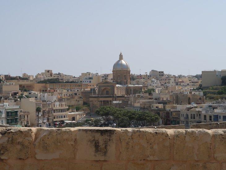 Vista da muralha de Birgu, Città Vittoriosa, Malta © Viaje Comigo