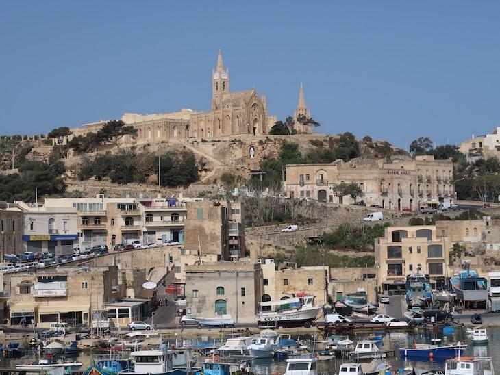 Vista do ferry para Gozo - Malta © Viaje Comigo