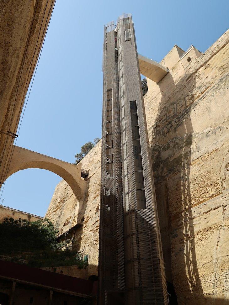 Elevador Barrakka - La Valetta - Malta © Viaje Comigo