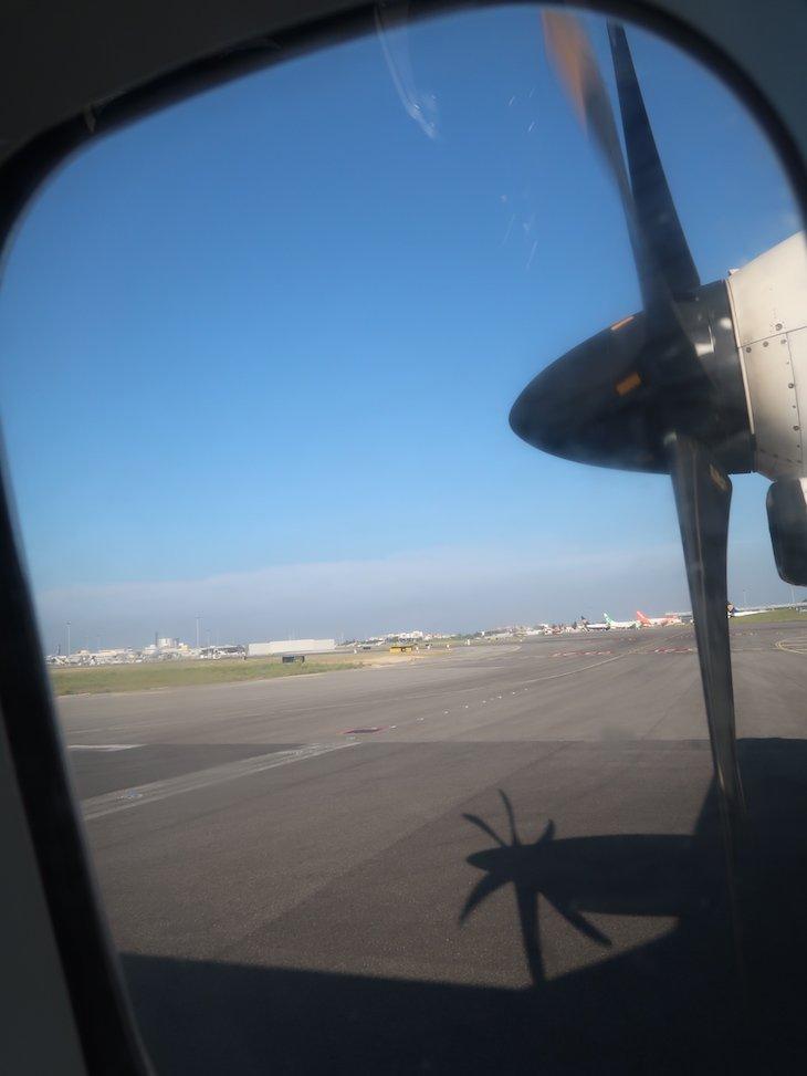 Hélice do ATR 72 - Ponte Aérea da TAP © Viaje Comigo