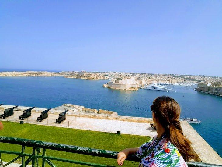 Vista dos Jardins Barrakka - La Valetta - Malta © Viaje Comigo
