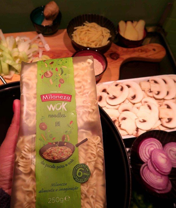 Ingredientes para fazer os noodles da Milaneza © Viaje Comigo