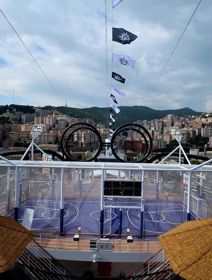 Slide no MSC Seaview © Viaje Comigo