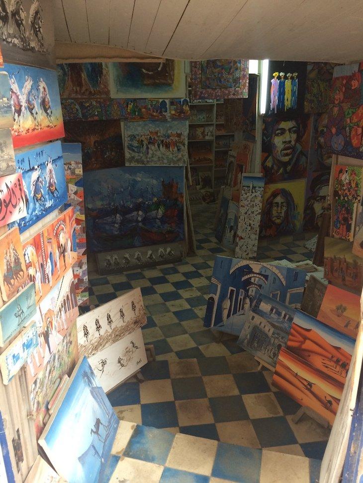 Galerias de Arte - Essaouira - Marrocos © Viaje Comigo