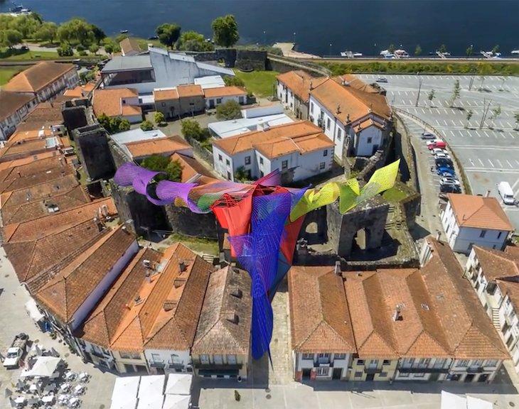 Intervenção de Acácio de Carvalho no castelo de Cerveira @ DR