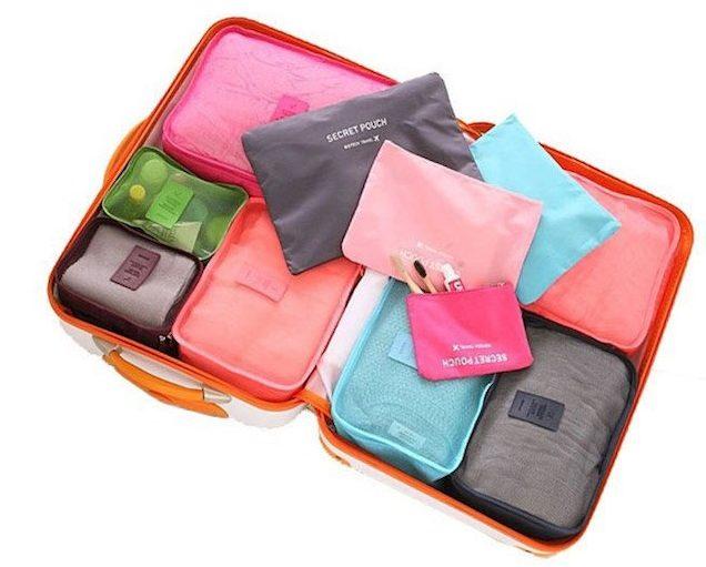 Várias cores à escolha, para organizadores de malas © Aliexpress