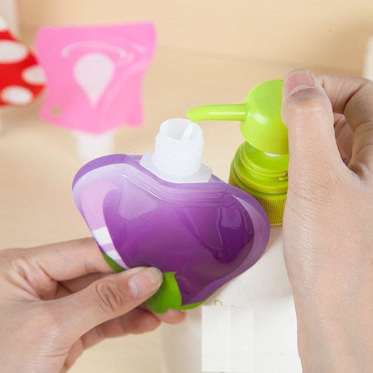 Saquinhos de líquidos - o melhor é que, quando vazios, não pesam nada e ocupam muito pouco