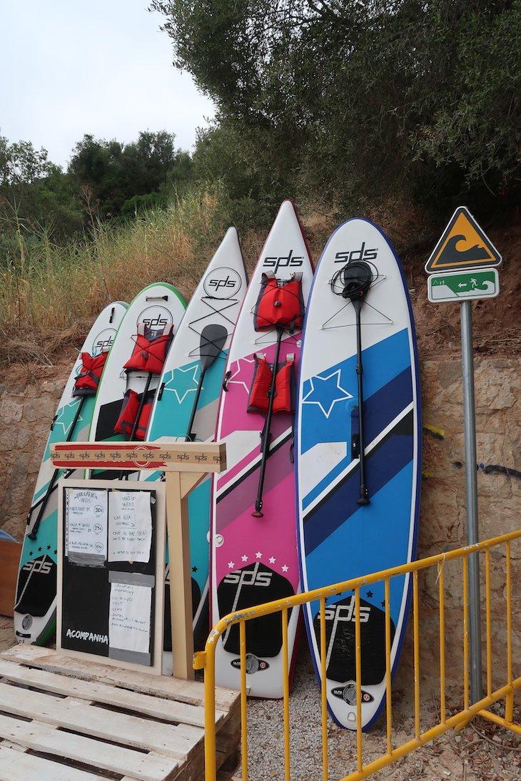 Aulas de SUP no Portinho Arrábida -Portugal © Viaje Comigo