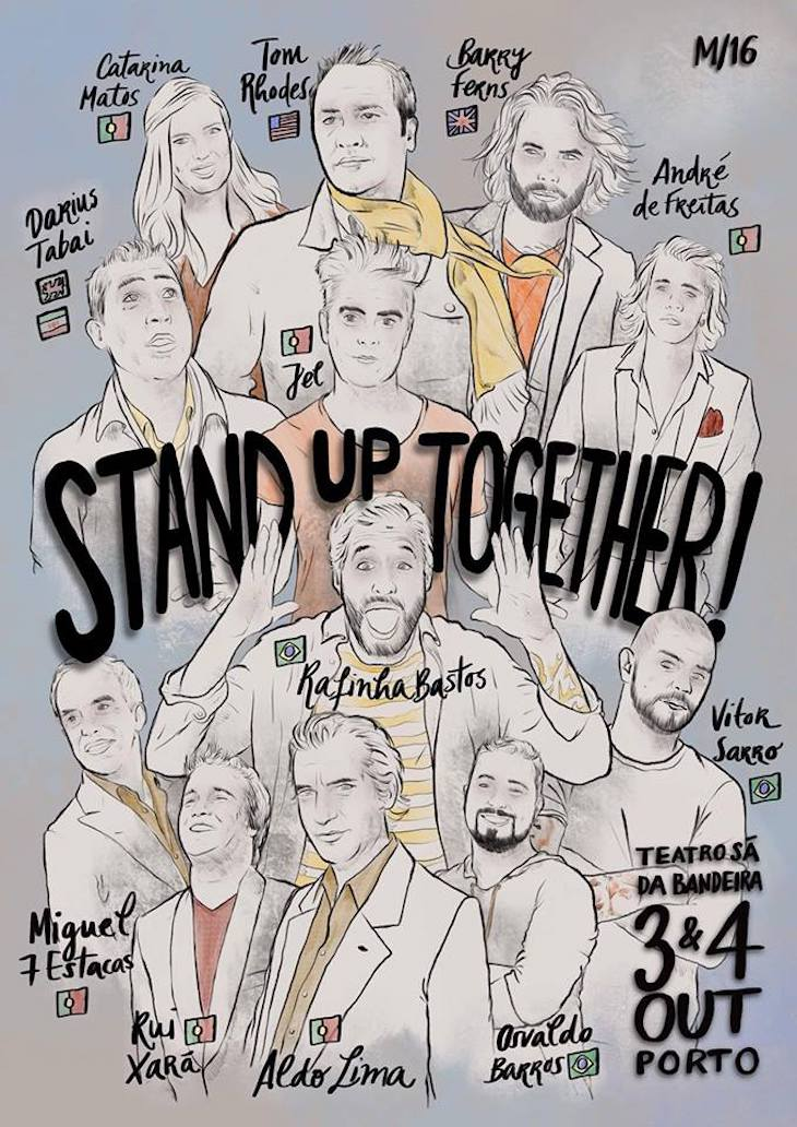 "Cartaz do ""Stand Up Together"""