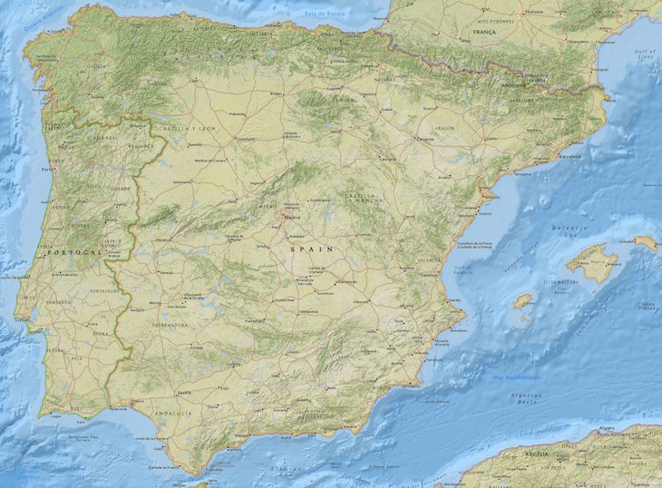 Mapa de Espanha - www.espanha-turismo.com