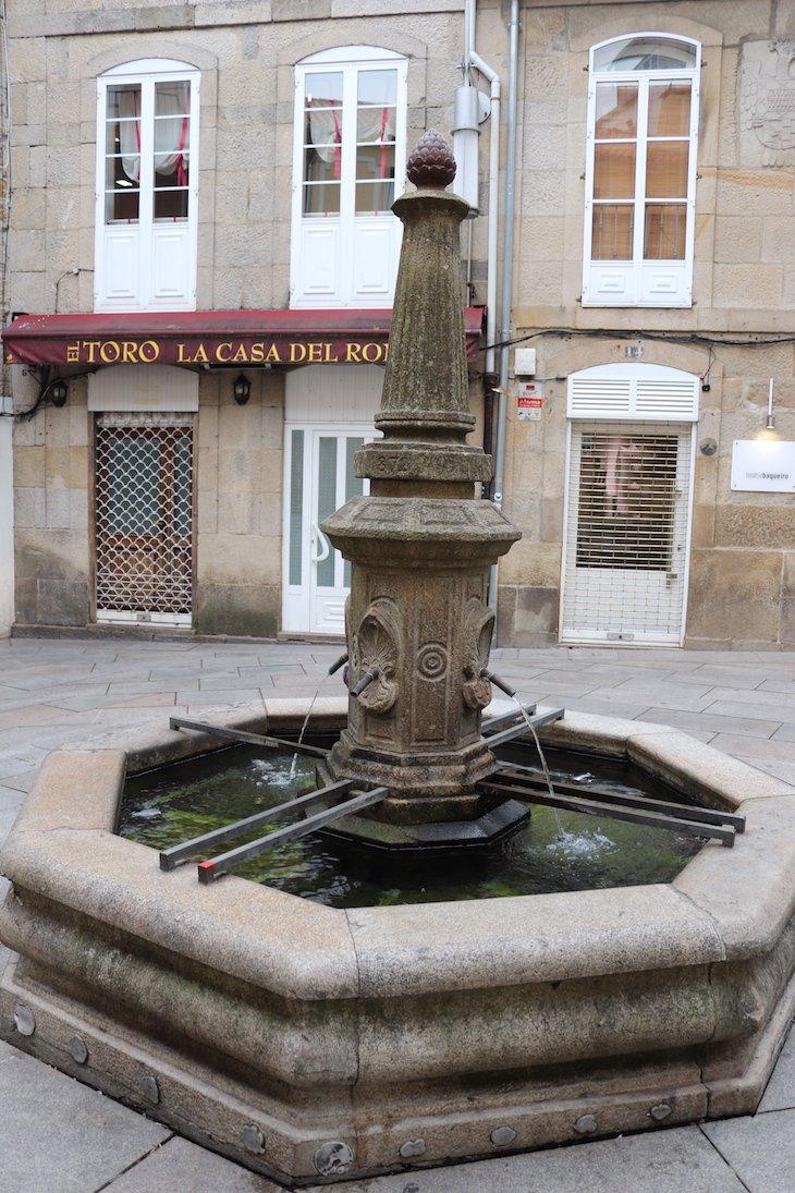 Fonte no Centro Histórico de Pontevedra © Viaje Comigo