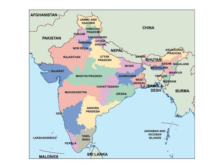 Mapas da Índia - Direitos Reservados
