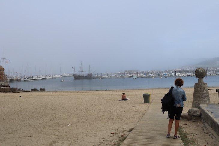 Praia A Ribeira - Baiona, Pontevedra, Galiza, Espanha © Viaje Comigo