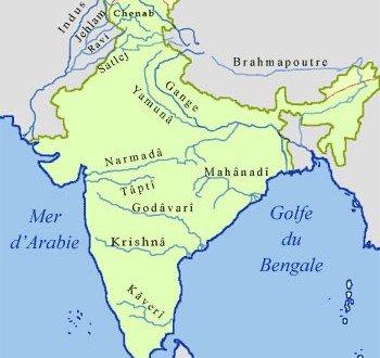 Rio Ganges Mapa Fisico.Mapas Da India Viagens Por Estados Viaje Comigo