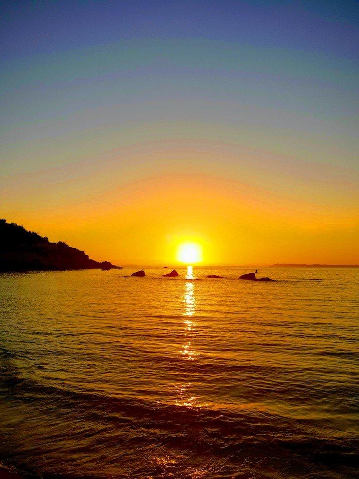 Pôr do sol na praia A Loira - Marin, Terras de Pontevedra - Galiza © Viaje Comigo
