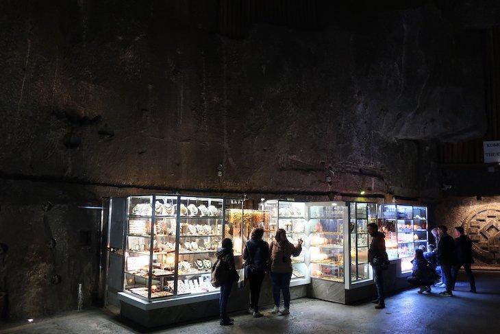 Lojas das Minas de sal de Wieliczka, Cracóvia, Polónia © Viaje Comigo
