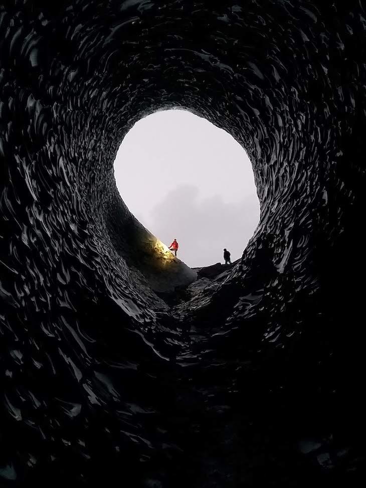 Gruta Anaconda, Viagem à Islândia: testes do Galaxy A9, Samsung © Viaje Comigo