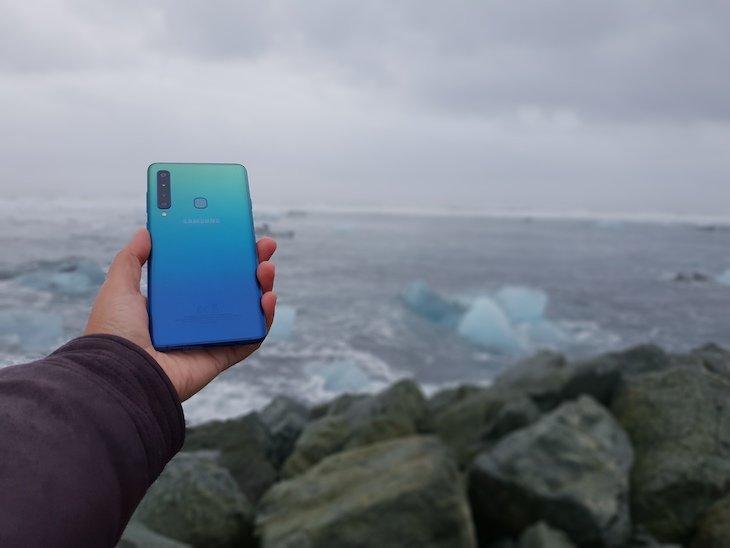 Cor azul boreal Galaxy A9 Samsung © Viaje Comigo