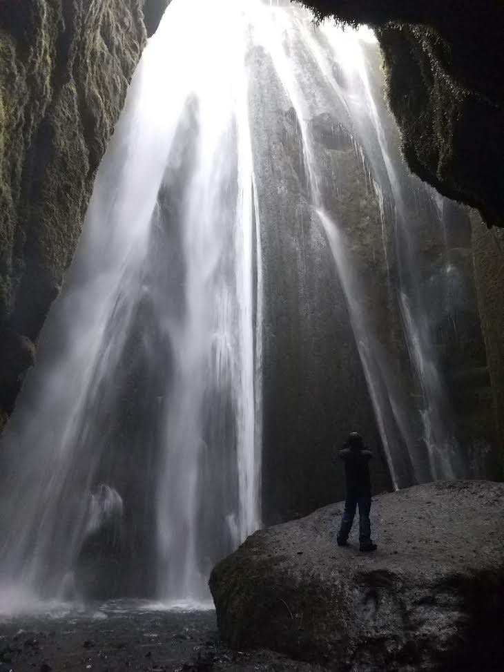 Queda de água: Gljufrabuí - Viagem à Islândia: testes do Galaxy A9, Samsung © Viaje Comigo
