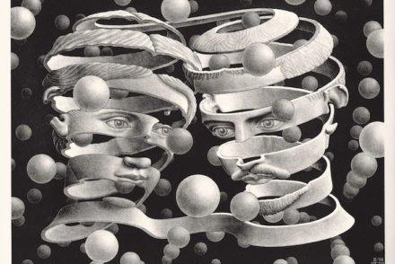 M. C. Escher - Laço de união, 1956 - Direitos Reservados