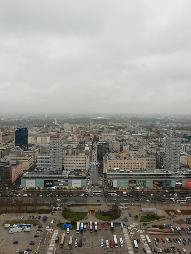 Vista do Palácio da Cultura e da Ciência - Varsóvia - Polónia © Viaje Comigo