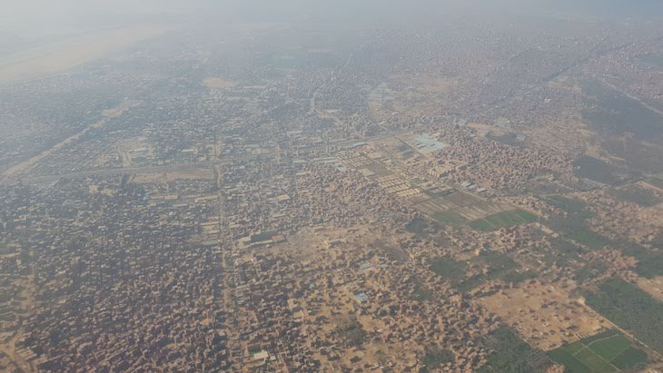 Cairo do Avião - Egito © Viaje Comigo
