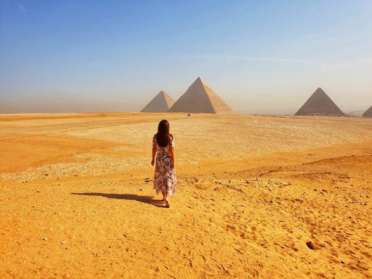 Susana Ribeiro nas Pirâmides de Gizé - Egito © Viaje Comigo