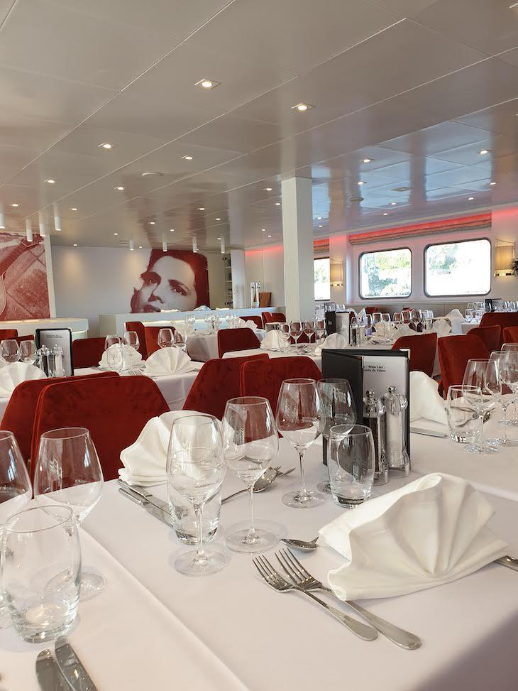 Restaurante do Navio Amália Rodrigues - CroisiEurope © Viaje Comigo